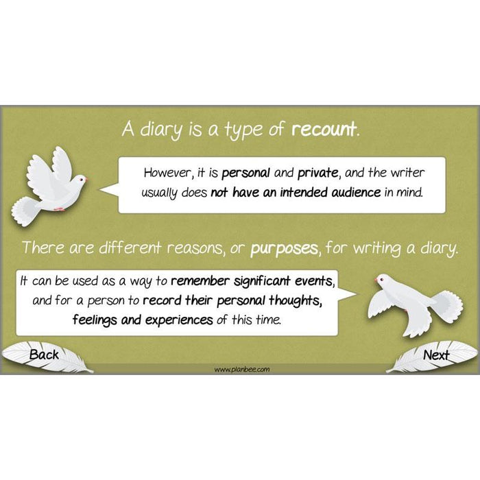 PlanBee White Feather Diary Entries KS2 English Planning Pack