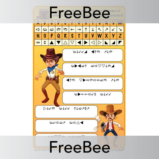 PlanBee Free Wild West Code Breaker | PlanBee FreeBees