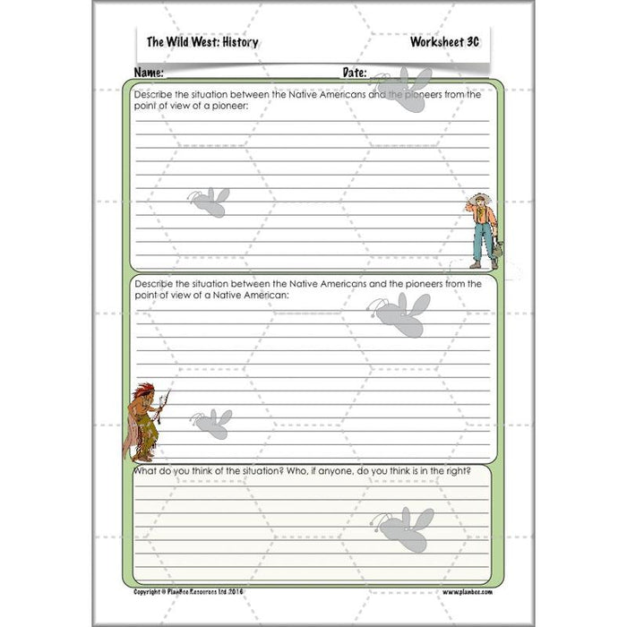 PlanBee Wild West Topic: Tribes & Tribulations - KS2 History Primary Resources