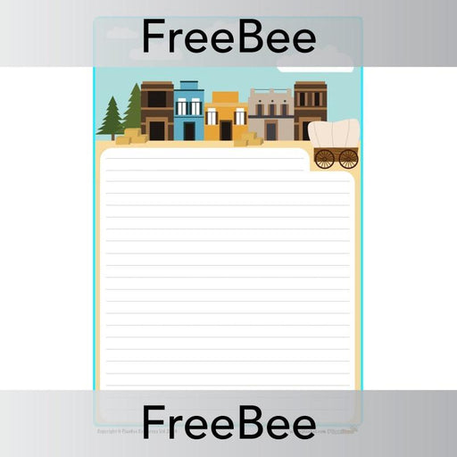 PlanBee Wild West Writing Frame | PlanBee FreeBees