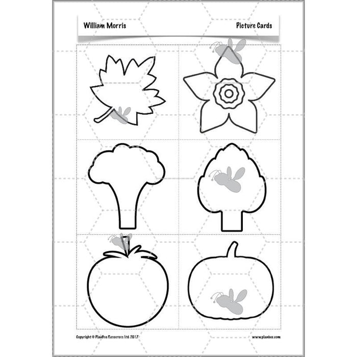 PlanBee William Morris KS2 Art Lesson Plan Packs for Year 3 & Year 4