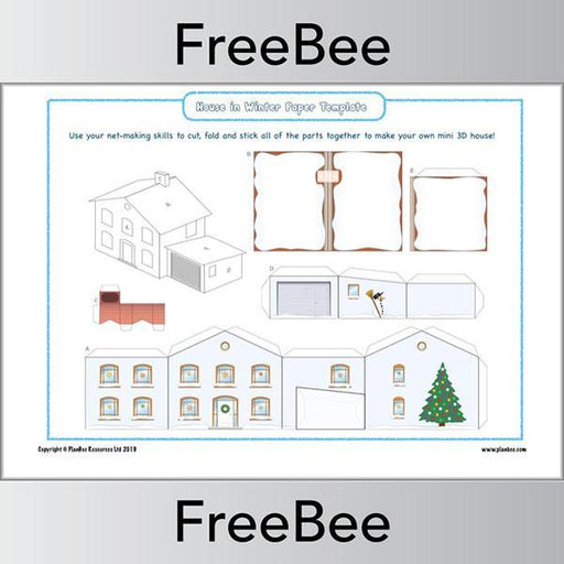 PlanBee 3D Nets KS2 - Christmas-themed