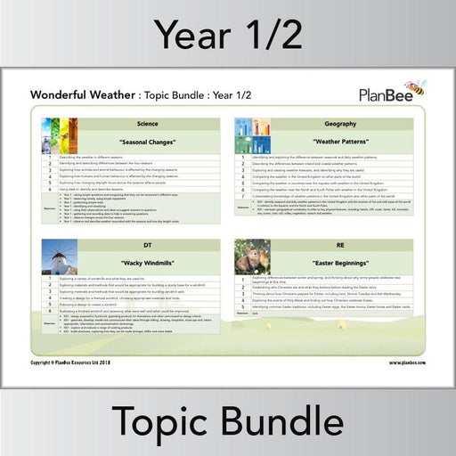 PlanBee Wonderful Weather -Topic Planning and Resources for KS1 - PlanBee