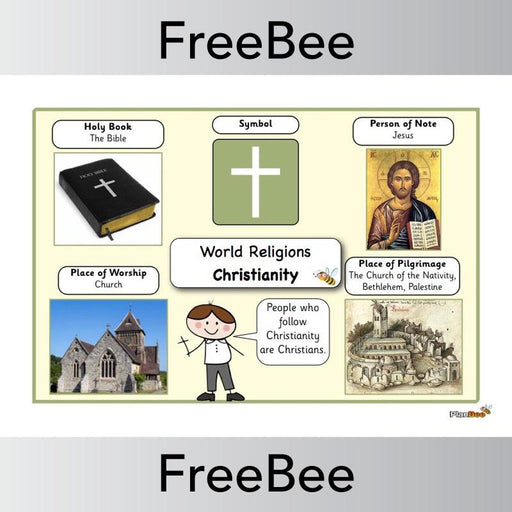 PlanBee World Religions: Christianity Word Bank | PlanBee FreeBees
