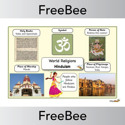 PlanBee World Religions: Hinduism Word Bank | PlanBee FreeBees