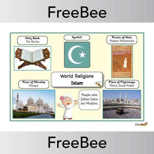 PlanBee World Religions: Islam Word Bank | PlanBee FreeBees