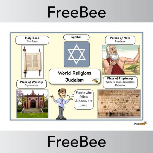PlanBee World Religions: Judaism Word Bank | PlanBee FreeBees