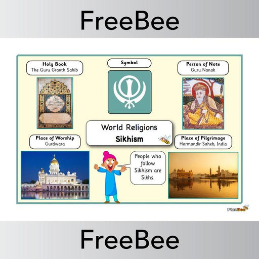 PlanBee World Religions: Sikhism Word Bank | PlanBee FreeBees