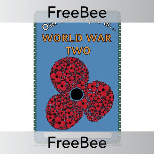 PlanBee World War 2 Topic Cover | Free resources by PlanBee