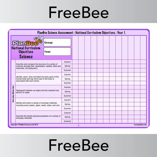 PlanBee Free Science KS1 Primary Teaching Resources