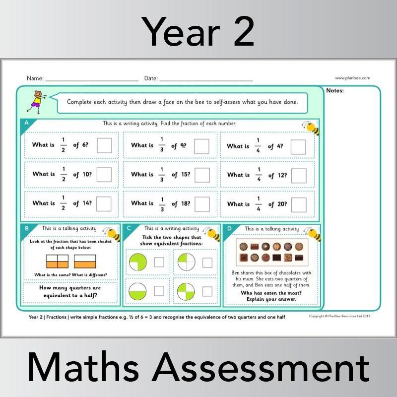 Year 2 Maths Assessments PlanBee Primary Maths Resources