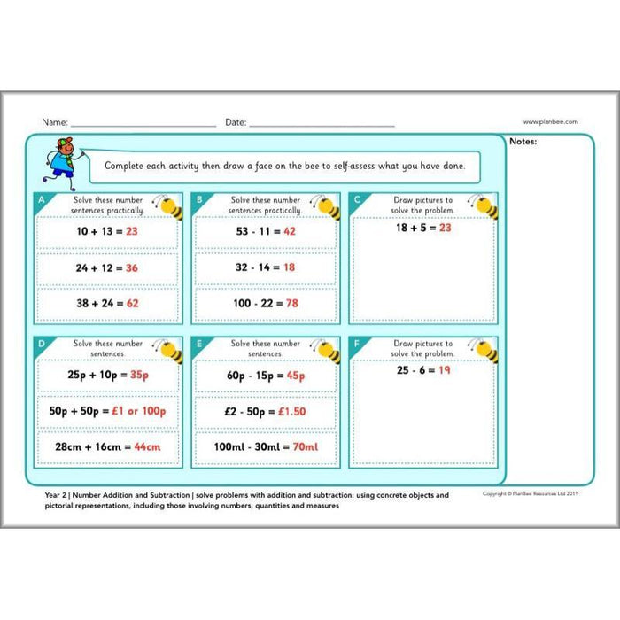 PlanBee Year 2 Maths Assessments | PlanBee Primary Maths Resources
