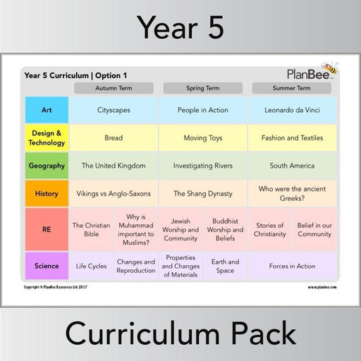 PlanBee Long Term Curriculum for Year 5 | All-Year-Round Planning
