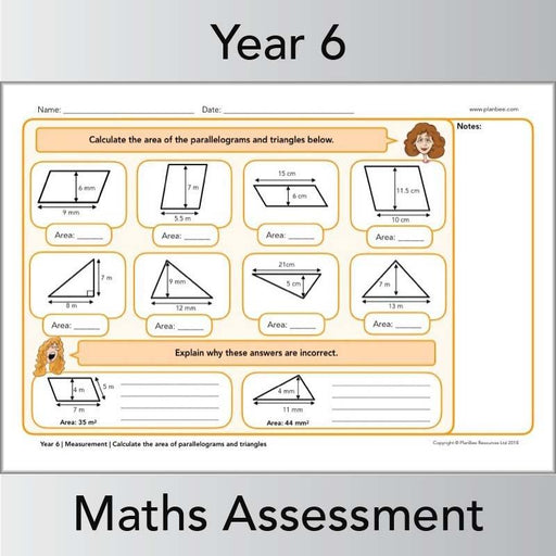PlanBee Year 6 Maths Assessment Pack | New Curriculum