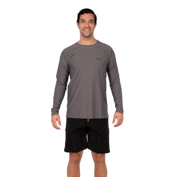 Men's Coastal Long Sleeve Lycra S / Charcoal Level Six