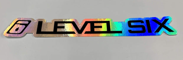 Stickers Paddling Accessories Holographic / Black Level Six