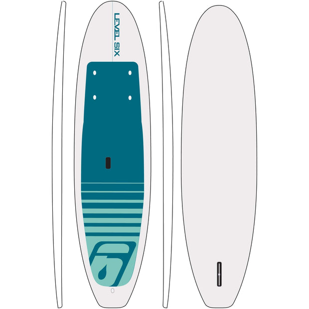 Ten-Ten HDPE SUP Board SUP Boards White Level Six SUP
