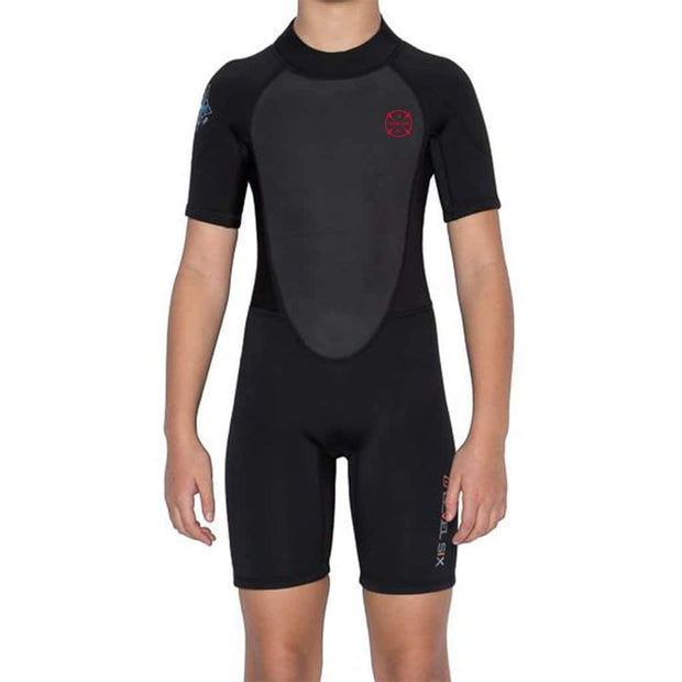 Youth Shorty Wet Suit Neoprene Black / 8 Level Six