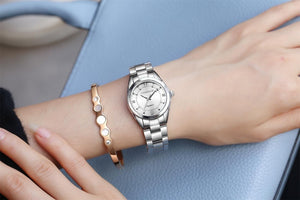 Women Luxury Rhinestone Stainless Steel Quartz Watches Ladies Business