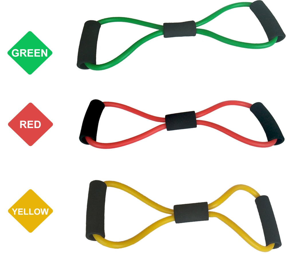8 Word Fitness Rope Resistance Bands Rubber Bands for Fitness Elastic