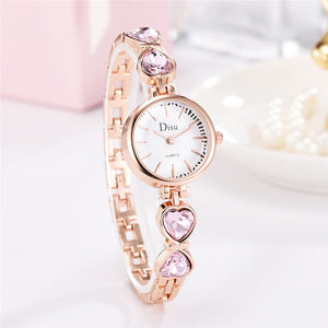 Dress Elegant Ladies Wristwatch Fashion Woman Bracelet Rhinestones