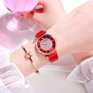 Women Watches Luxury Diamond Rose Gold Ladies Wrist Watches Magnetic