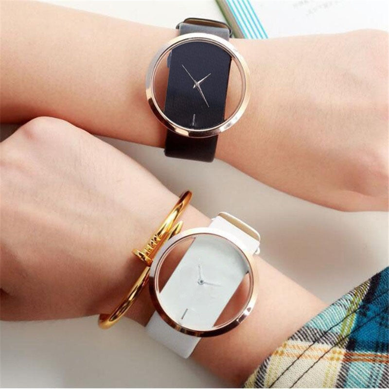 Top Leather Quartz Watch Lady Watches Women Luxury Antique Stylish
