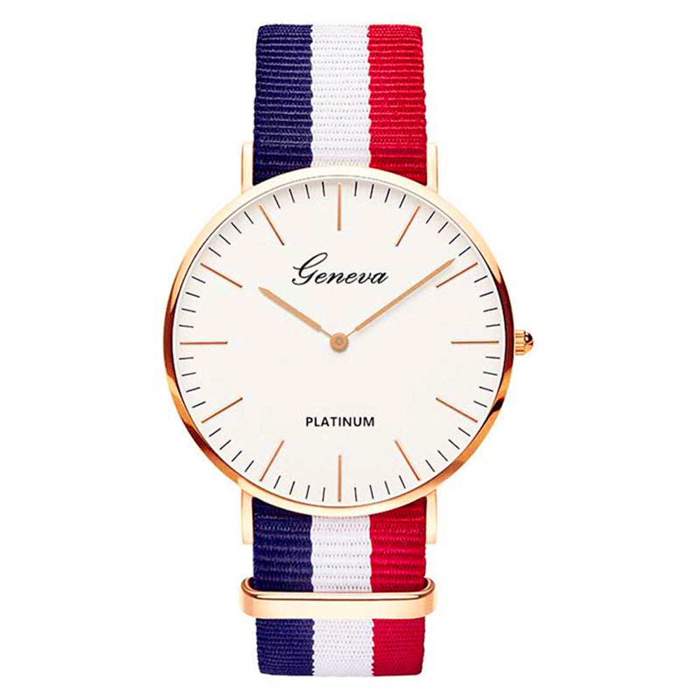 Nylon Strap Style Quartz Women Watch Top Brand Watches Fashion Casual