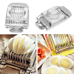 Creative Boiled eggs Slicer Cutter Stainless Steel Kitchen Supplies