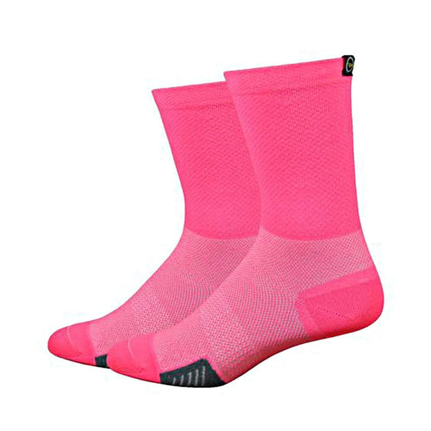 DeFeet Cyclismo w/DeFeet Tab Cycling Running Socks - Pink