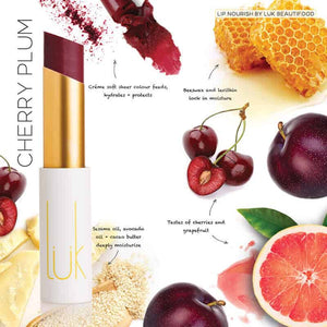 LUK BEAUTIFOOD - Lip Nourish Cherry Plum Natural Lipstick