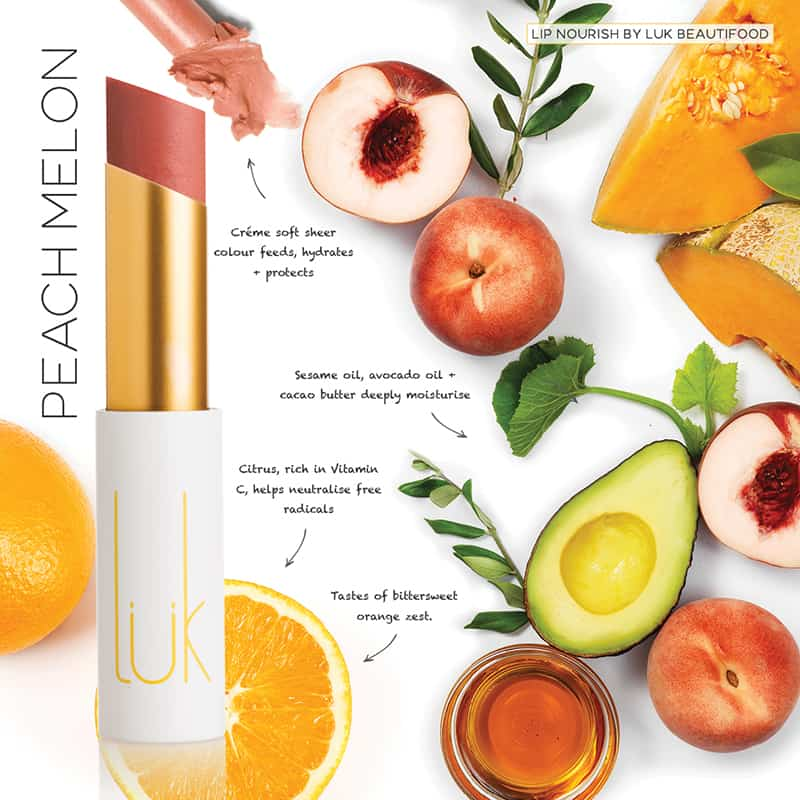 LUK BEAUTIFOOD - Lip Nourish Peach Melon Natural Lipstick