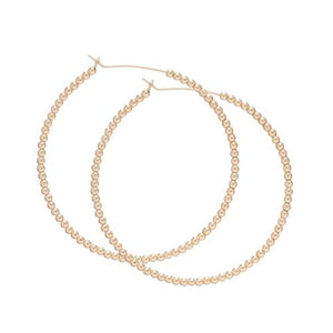 "1.25"" HOOP GOLD EARRINGS - Molly's! A Chic and Unique Boutique"