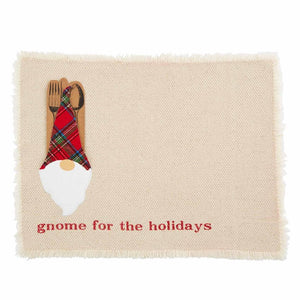GNOME POCKET PLACEMAT:  Available in Cream or Red - Molly's! A Chic and Unique Boutique