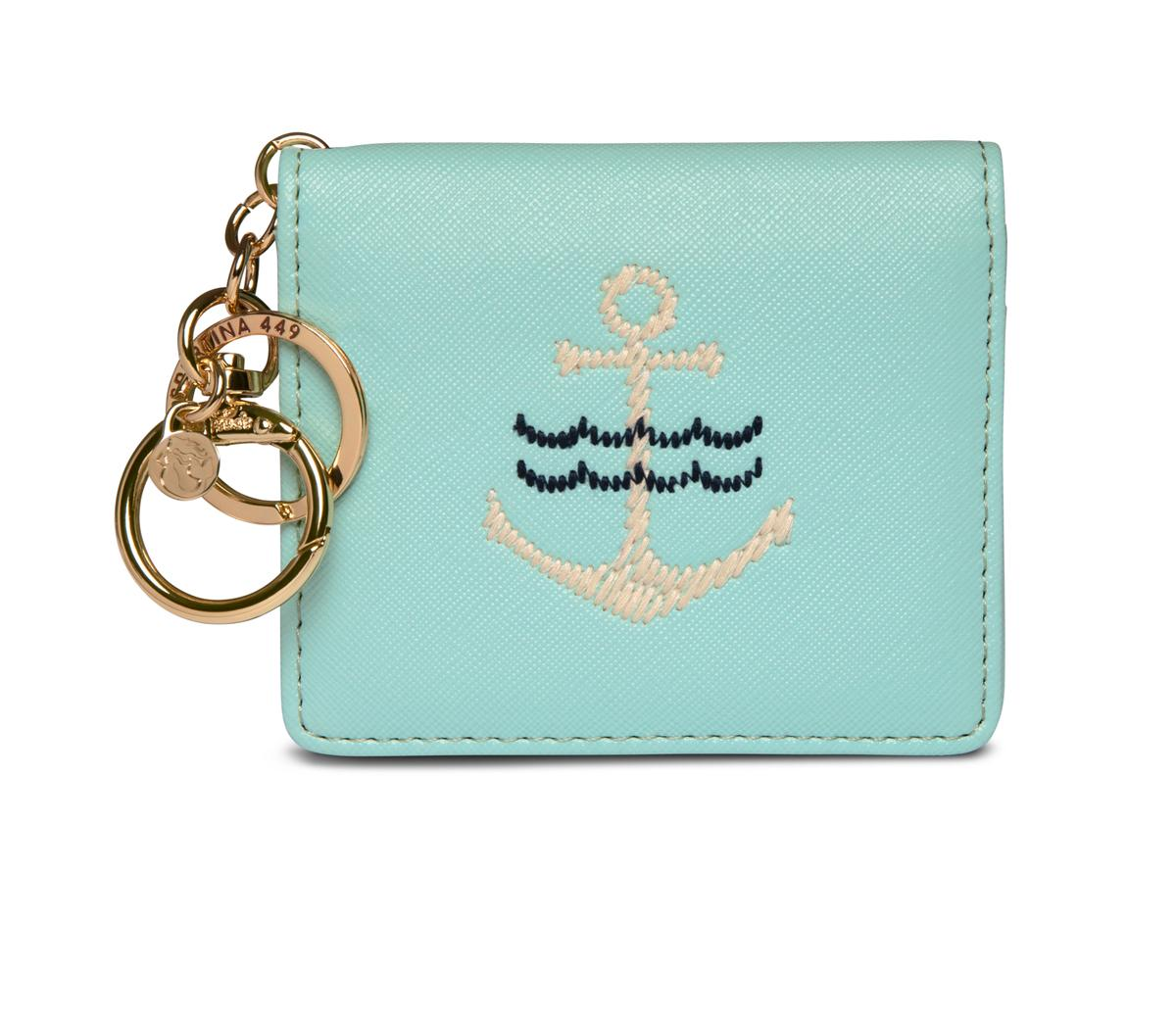 EMBROIDERED CARD KEYCHAIN - Molly's! A Chic and Unique Boutique