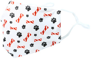CANDY CANE BONE - Adult Reusable Fabric Mask