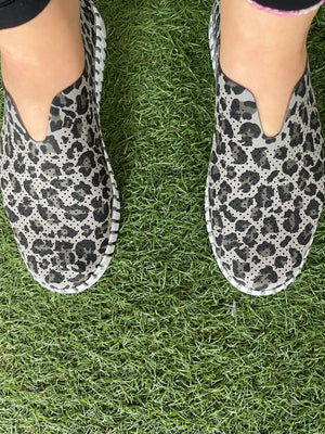 TULIP SLIP ON SHOE BY ILSE JACOBSEN- GREY CAMO PRINT - Molly's! A Chic and Unique Boutique