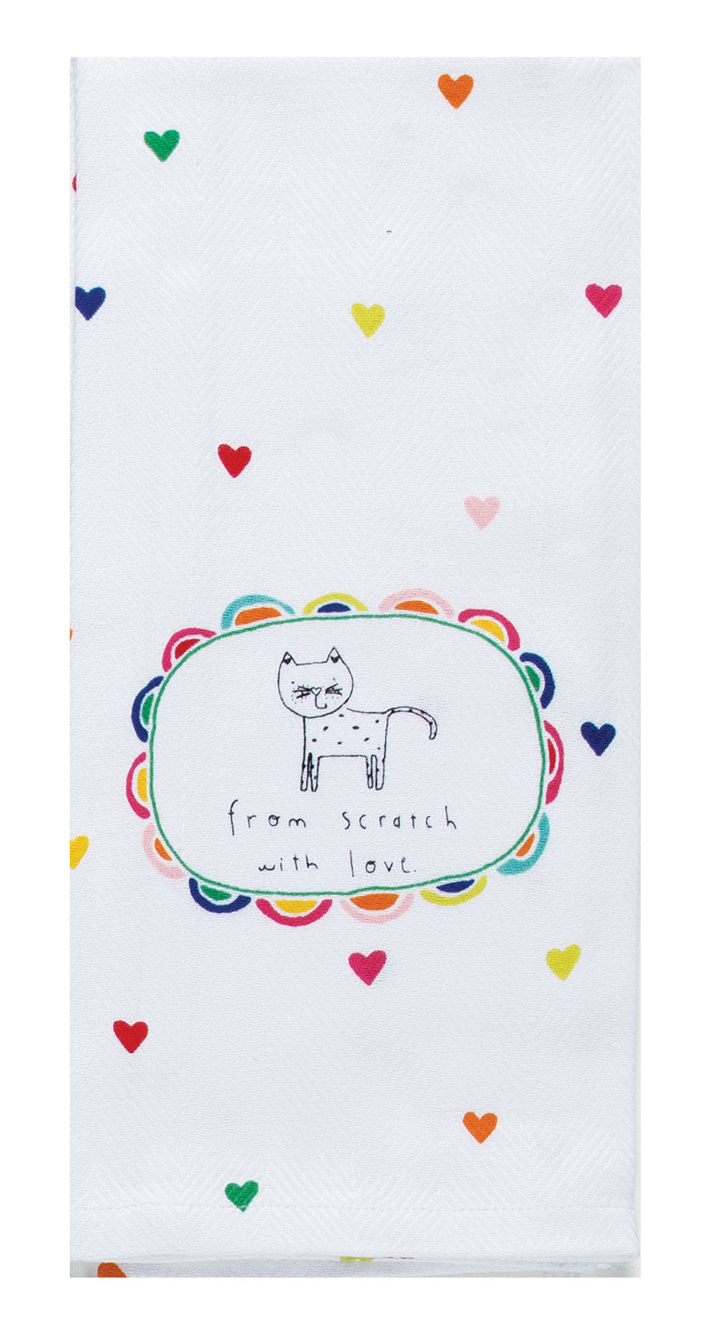 With Love Tea Towel - Molly's! A Chic and Unique Boutique
