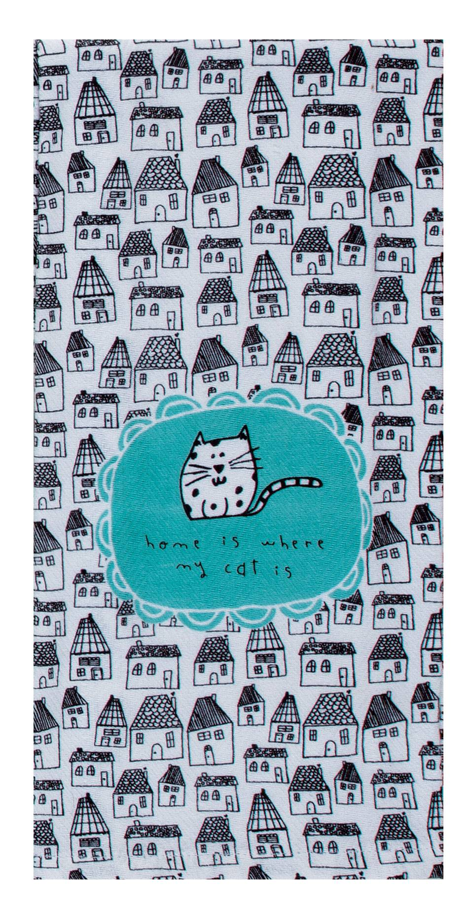 Cat Home Tea Towel - Molly's! A Chic and Unique Boutique