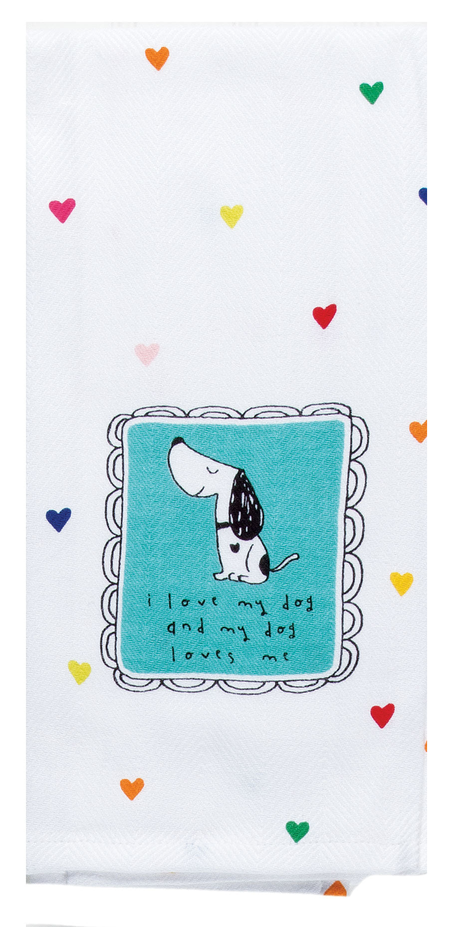 LOVE MY DOG TEA TOWEL - Molly's! A Chic and Unique Boutique