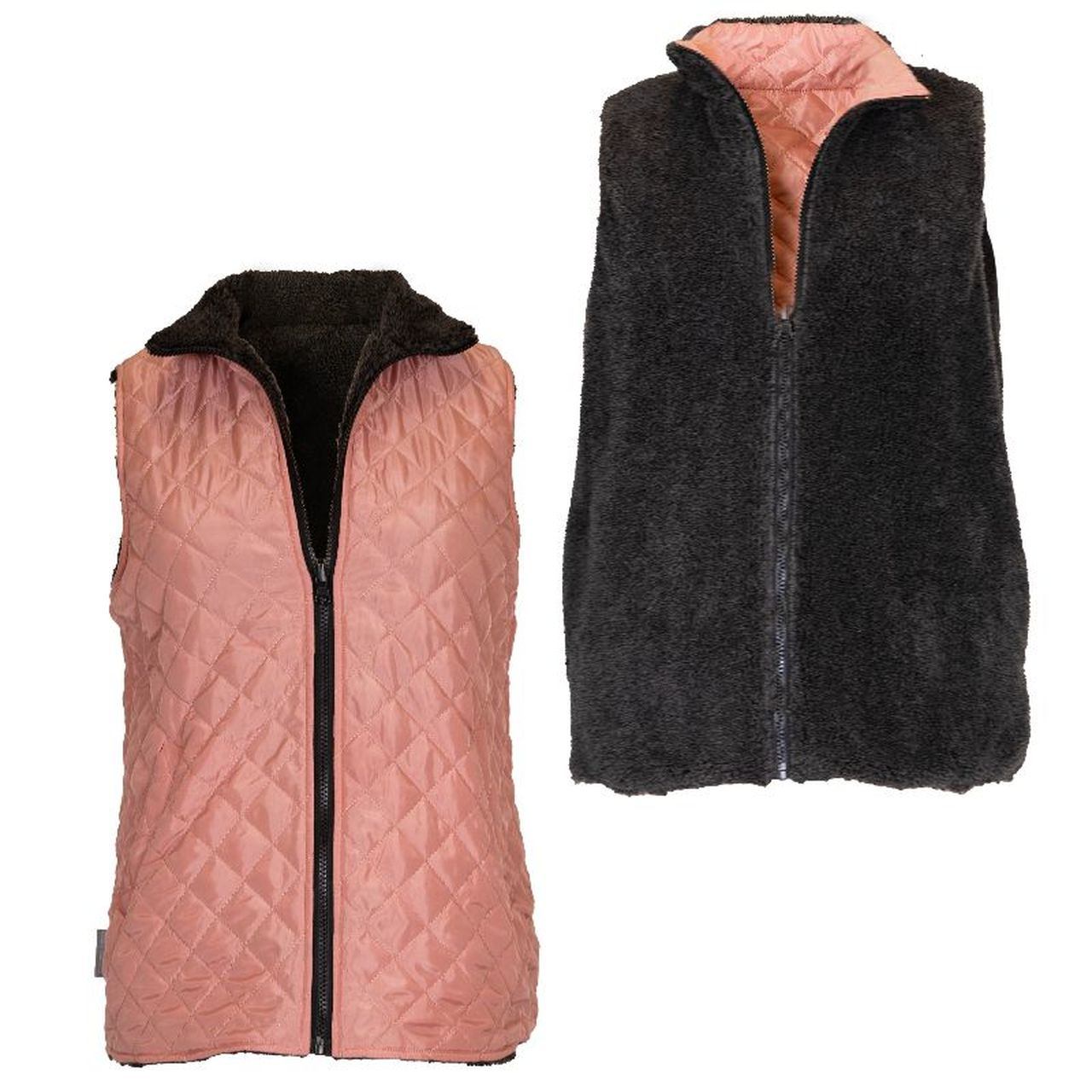 PINK/GRAY REVERSIBLE VEST - Molly's! A Chic and Unique Boutique