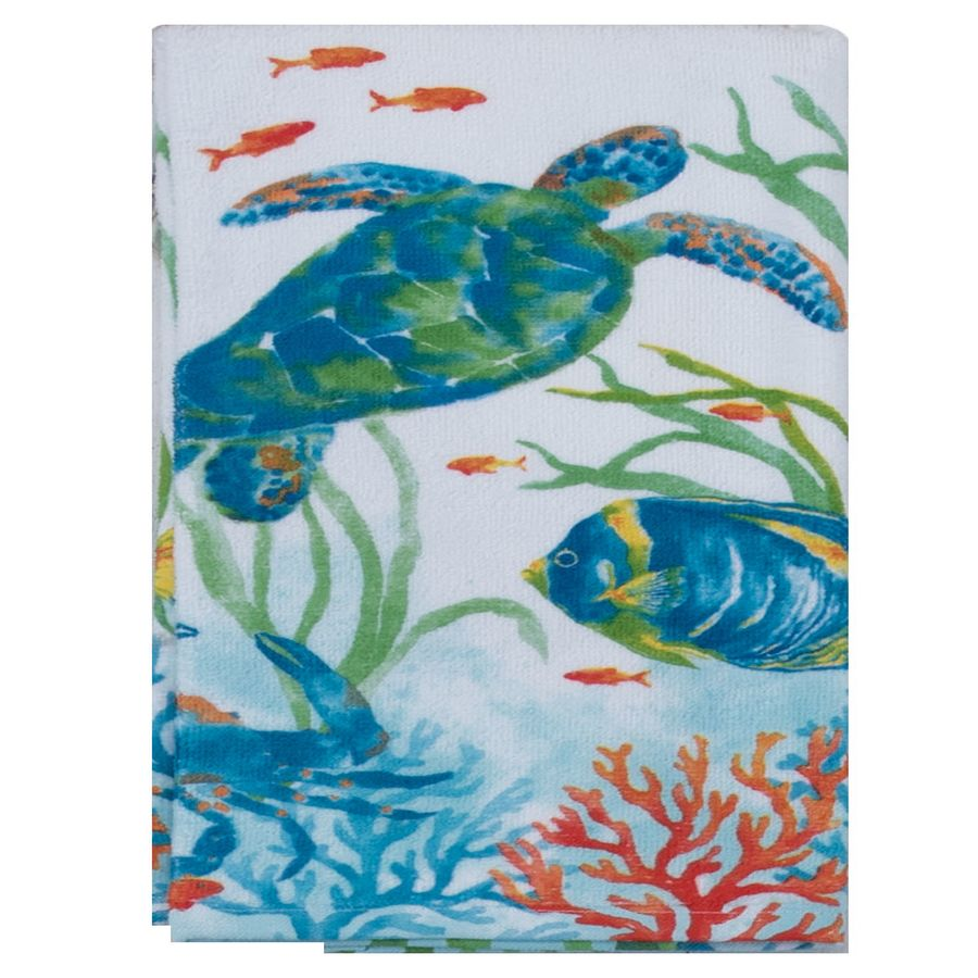 Kay Dee Designs Sea Splash Turtle Terry Kitchen Towel - Molly's! A Chic and Unique Boutique