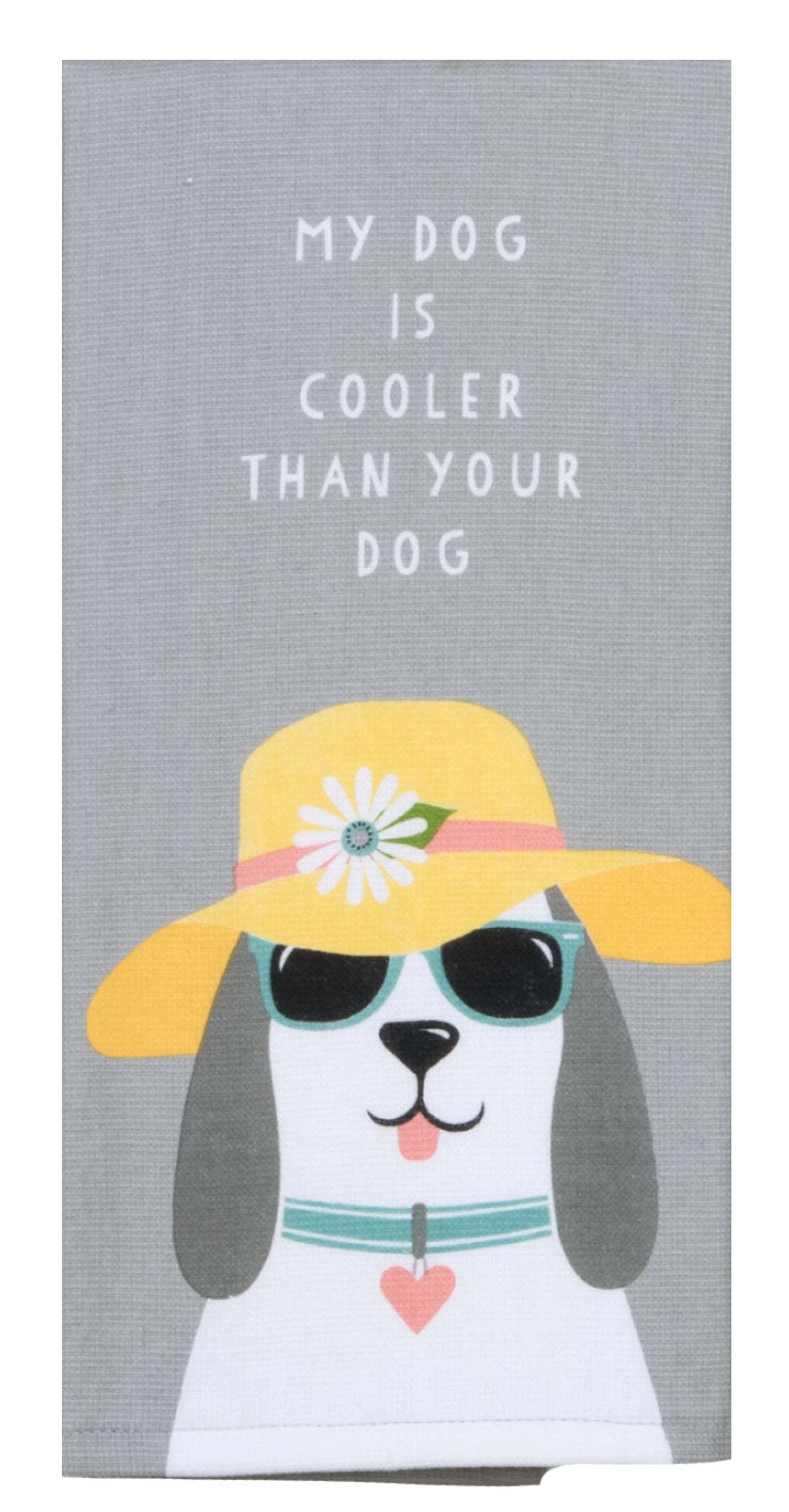 Dog Patch Cool Dog Dual Purpose Terry Towel - Molly's! A Chic and Unique Boutique