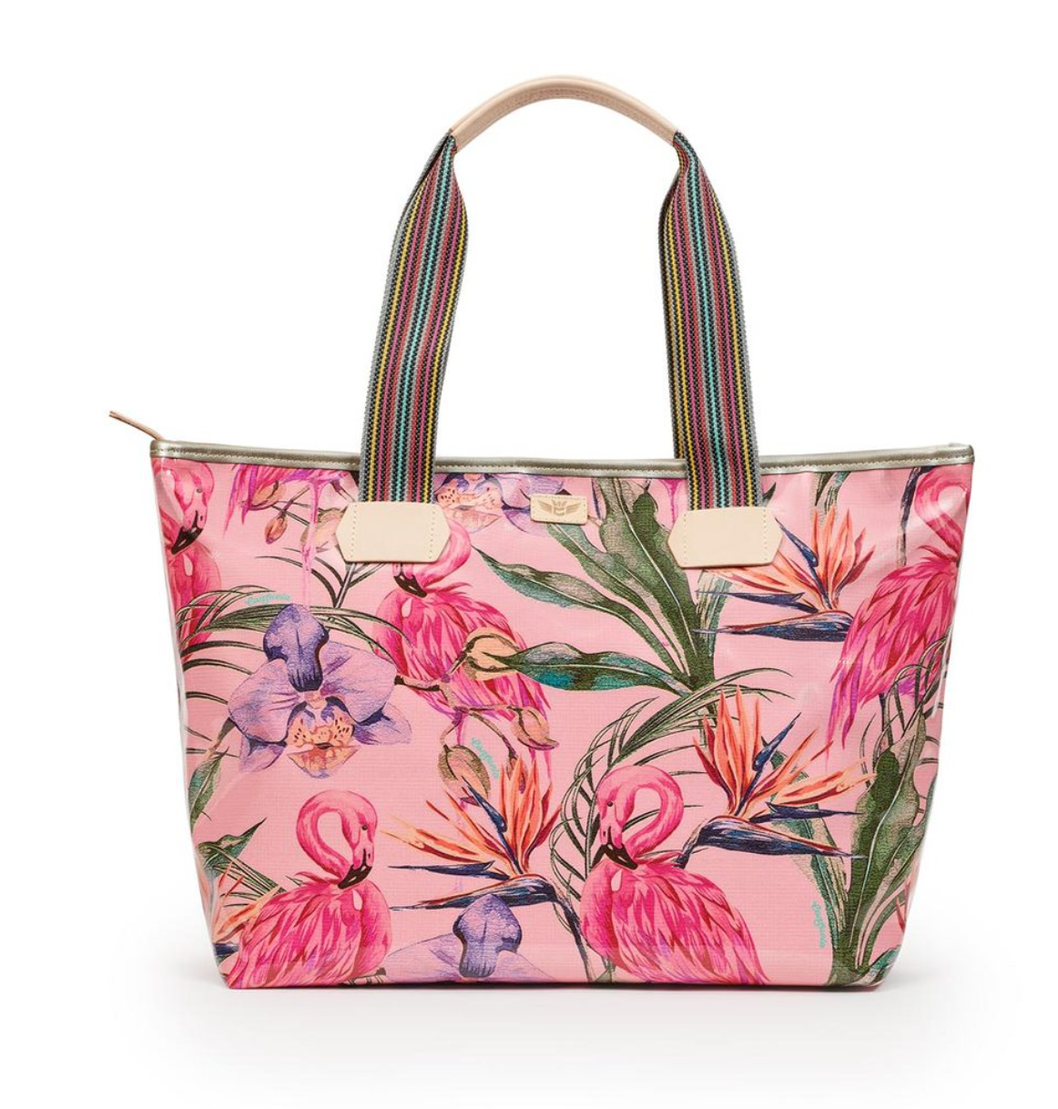 ZIPPER TOTE: BRYNN FLAMINGO - Molly's! A Chic and Unique Boutique