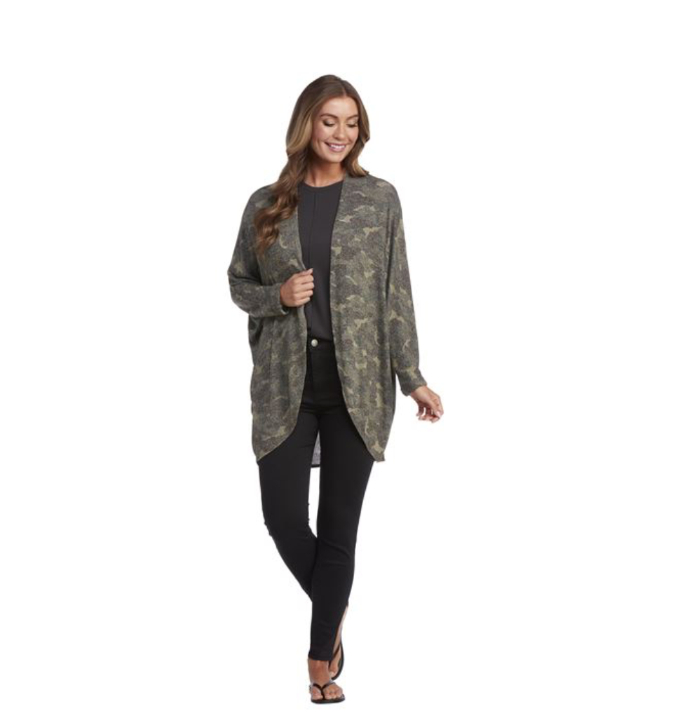 COLBY COCOON CARDIGAN GREEN - Molly's! A Chic and Unique Boutique