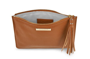 SOPHIA TASSEL POUCH | COGNAC - Molly's! A Chic and Unique Boutique