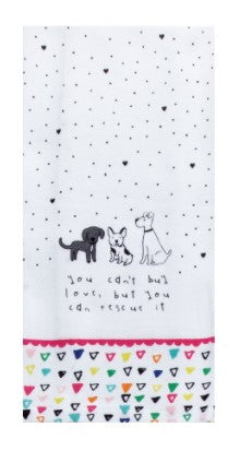 Petitudes Can't Buy Me Love Tea Towel - Molly's! A Chic and Unique Boutique