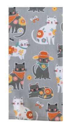 Cat Patch Dual Purpose Terry Towel - Molly's! A Chic and Unique Boutique