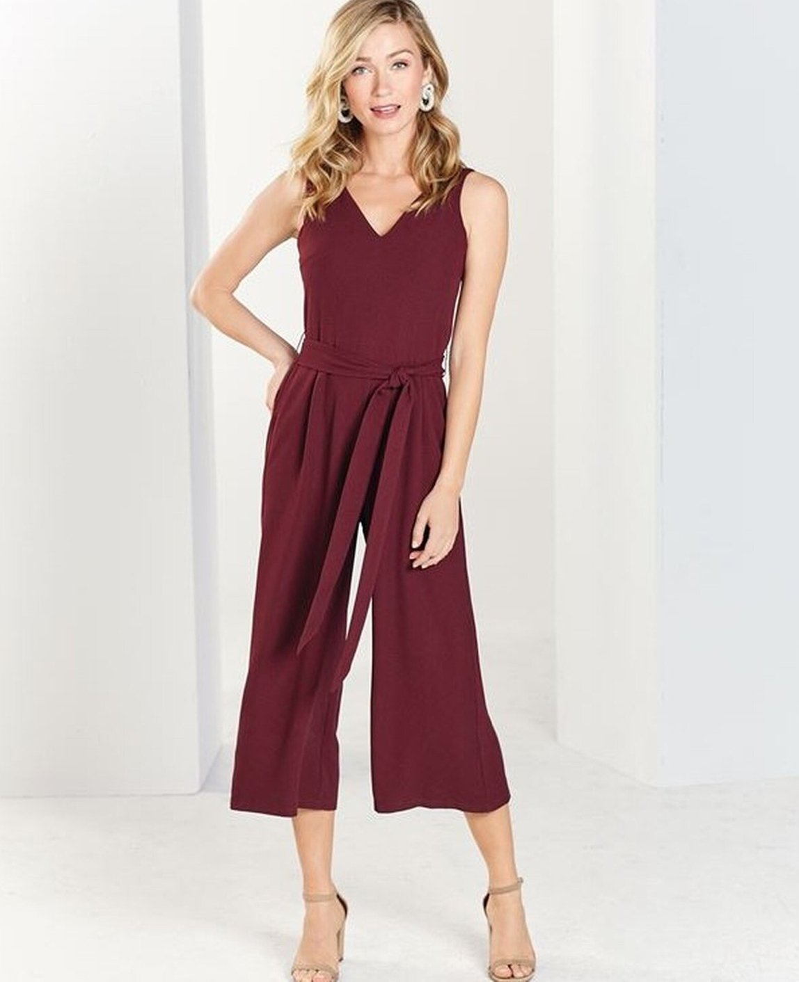 Adelynn Jumpsuit Pinot (sizes XS and M only) - Molly's! A Chic and Unique Boutique