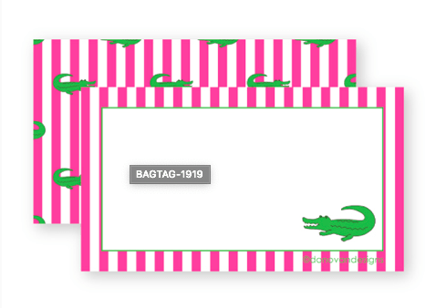 ALLIGATOR LUGGAGE TAG - Molly's! A Chic and Unique Boutique
